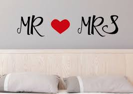 Mr And Mrs Wall Stickers His And Her Wall Stickers Bedroom Wall Stickers Fox And Canvas