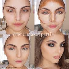 contour your face with makeup like