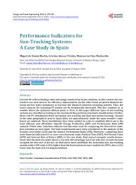 PDF) Performance Indicators for Sun-Tracking Systems: A Case Study ...
