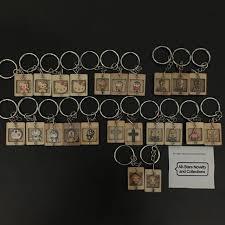 handmade wooden cartoon keychain