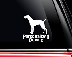 Weimaraners Vinyl Window Decals Make A Decal Online W Decal Etsy Vinyl Window Decals Dog Decals Car Decals Vinyl