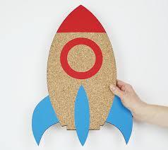 Rocket Cork Board Rocket Memoboard Rocket Decoration Etsy