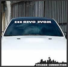 Move Over Arrow Commute Fast Lane Vinyl Sticker Windshield Banner Jdm Race Car Ebay