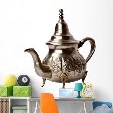 Moroccan Tea Pot Wall Decal Wallmonkeys Com
