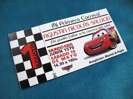 Tarjetas Invitaciones Cumpleanos Infantil Ticket Cars 22 00 En