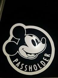 Walt Disney Annual Passholder Vinyl Car Decal Handmade Ebay