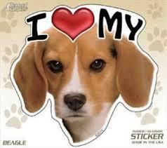 I Love My Beagle Dog 4 Car Truck Home Vinyl Sticker Decal Pet Gift Usa Ebay