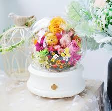 Winnie X Piglet BFF保鮮花LED藍芽音樂喇叭– MEET GARDEN 保鮮花專門店
