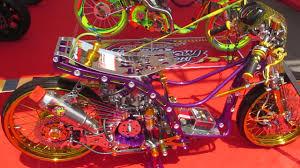 modifikasi motor matic drag race