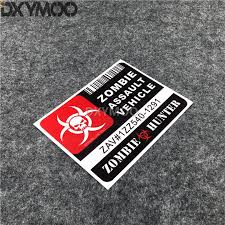 Offical Use Only Zombie Hunter Assault Vehicle Motorcycle Bike Stickers Car Styling Vinyl Decal Reflective 13x10cm Car Stickers Aliexpress