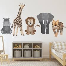 Large Safari Animal Wall Decals Nursery Decals Jungle Wall Stickers