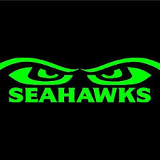 Seahawks Both Eye S Vinyl Window Decal Pick Your Size And Etsy