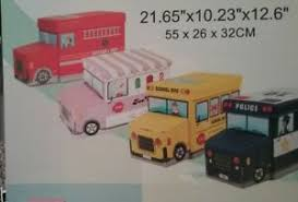 New Kids Yellow School Bus Toy Box W Padded Lid Ottoman Storage Childrens Room 638888948253 Ebay