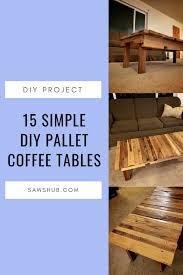 diy pallet coffee table ideas