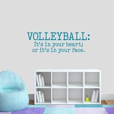 Volleyball Set Sports Wall Decals Stickers