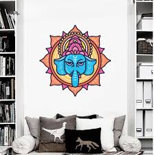 Elephant Wall Decal Ganesha Vinyl Decal Hindu God Wall Art Elephant Wall Decor Hindu God Art Spiritual Gift For Girlfriend By Expressed In Prints Catch My Party