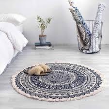 hand woven floor mat retro style floor