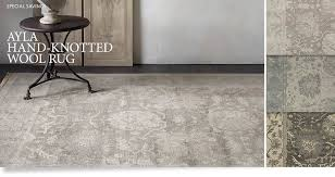 ayla rug restoration hardware grey