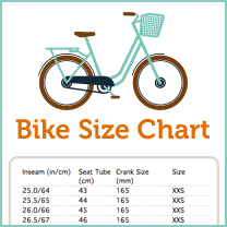 road bike size chart