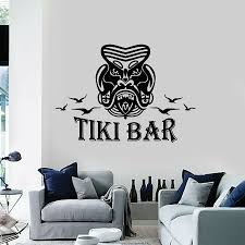 Arabic Wall Decal Welcome Tiki Bar Lettering Interior Decor Mask Hawaii Style Vinyl Window Stickers Cool Mural Removable M337 Wall Stickers Aliexpress