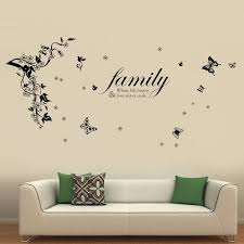 Ebern Designs Butterflies Vine And Family Quotes Wall Decal Reviews Wayfair