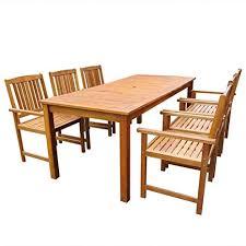 chair set wooden garden dining