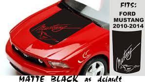 Product Ford Mustang 2010 2011 2012 2013 2014 2020 Vinyl Hood Decal Script Logo