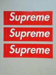 Supreme Sticker 2 Trainers4me