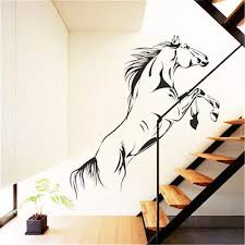 Jumping Big Horse Art Wall Stickers Removeable Vinyl Decal Home Graphics Lounge Bedroom Mural Poster Sticker Remover Vinyl Decalart Wall Sticker Aliexpress
