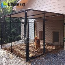 Dog Kennel Pen Pet Outdoor Chain Link Fence House Large Cage Crate Exercise Bed Buy Outdoor Chain Link Fence House Large Cage Crate Exercise Bed Dog Kennel Pen Pet Cage Product On Alibaba Com