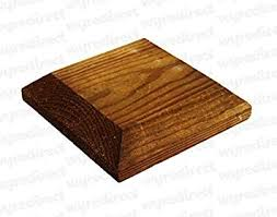 Wooden Post Top To Suit 4 100mm Fence Post Cap Decking Treated Brown Actual Size 120mm Amazon Co Uk Diy Tools