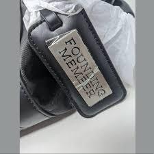 founding member gym bag black silver