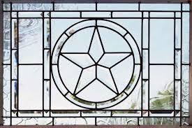 texas star 8 leaded glass beveled