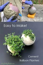 cement balloon planter diy planters