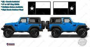 2 Texas State Flag Vinyl Hood Decals Lone Star State Usa Fits Jeep Wrangler Ebay