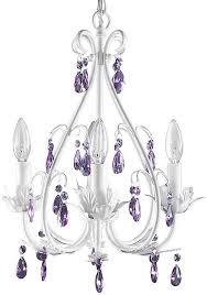 Firefly Home Kids Lighting Sophia Crystal Chandelier Purple Crystals 4 Light Amazon Com