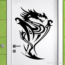 Creative Design Dragon Wall Sticker Vinyl Animal Home Decor Living Room Door Window Decals Tattoo Shop Murals Kids Bedroom Vinyl Wall Graphics Vinyl Wall Lettering From Onlinegame 11 85 Dhgate Com