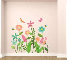 Flower Fabric Wall Decals Stickers From Eco Wall Decals