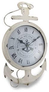 nautical anchor large metal wall clock