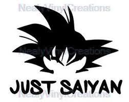 Goku Decal Etsy