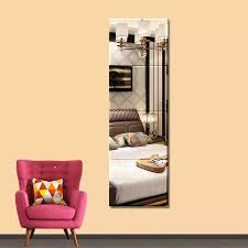 4pcs 22 22cm Durable Removable Dressing Mirror Wall Stickers Full Length Mirror Living Room Kids Bedroom For Home Decor 298230 Decorative Mirrors Aliexpress