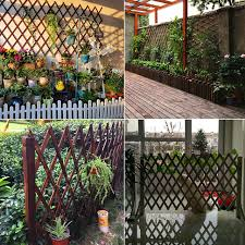 Guardrail Fence Outdoor Garden Grid Flower Stand Wooden Fence Anticorrosive Wood Bamboo Fence Climbing Cane Balcony Garden Decoration