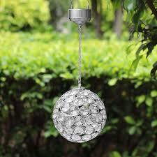 solar hanging crystal ball light