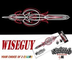 Wiseguy Vinyl Pinstripe 2 Color Decal Twisted Chrome Custom Vinyl Pinstripes Accessories Custom Vinyl Pinstriping Color