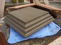 How To Make A Concrete Post Cap Buildeazy Concrete Posts Post Cap Concrete