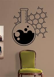 Chemistry Beaker Science Design Decal Sticker Wall Vinyl Art Home Room Decor Vinyl Wall Art Vinyl Wall Art Decals Decal Wall Art