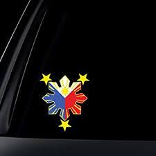 Amazon Com World Design Philippine Flag Sun Car Decal Stickers Everything Else