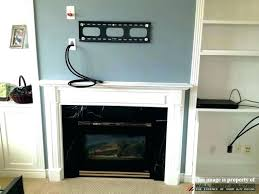 wiring tv above gas fireplace auto