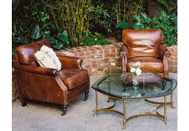 guilford cigar chair brown leather