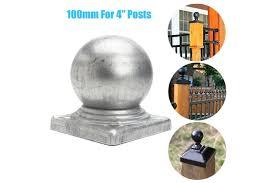 100mm Epoxy Black Metal Round Ball Fence Finial Post Caps For 4 Posts 1pcs Kogan Com